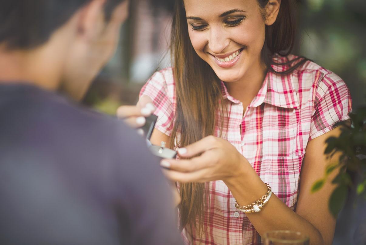 Kredit für Verlobungsringe